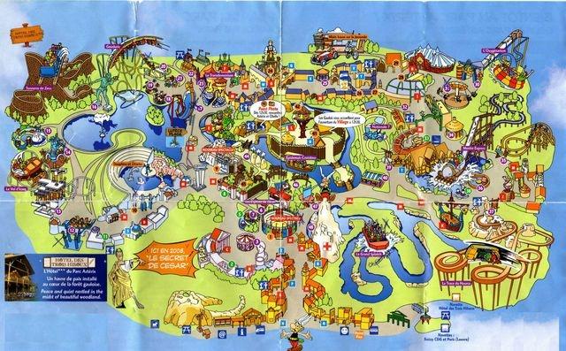 Le plan du parc Astérix